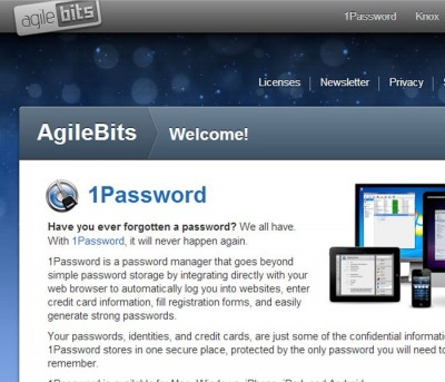 1Password installs into most browsers, so you can quickly jump to a site and get logged in at the same time!