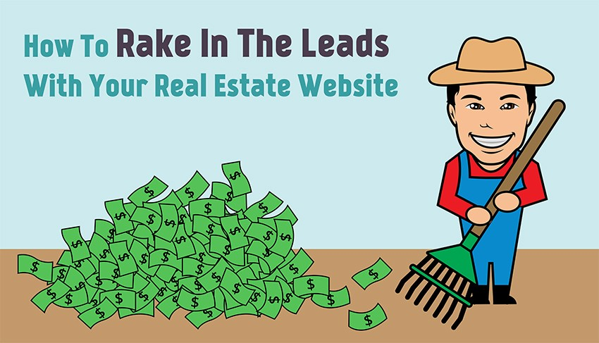 real estate website leading