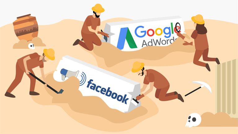 Google and Facebook History of Marketing