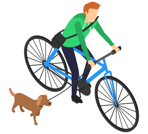 Social Media Strategies for Real Estate Agents Get Real Man on Bike with Dog