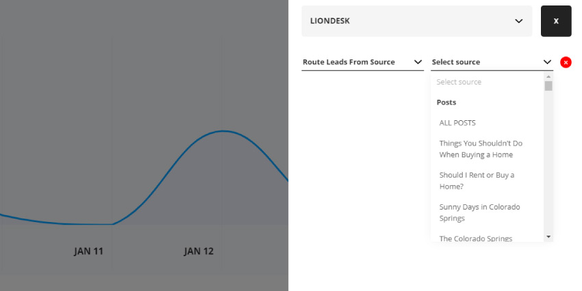 Choose lead routing by source to isolate for any page, post, team member, or area guide