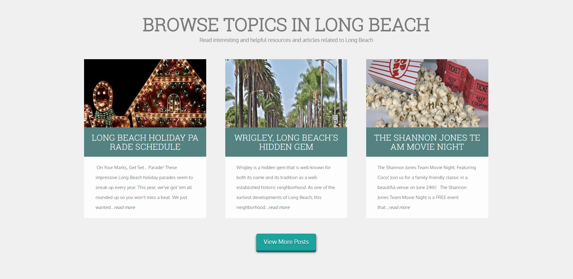 And integration for your site's area-specific blog posts.