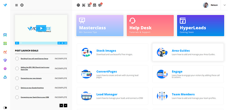 The new Spark Site dashboard