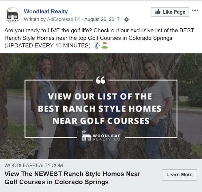 Woodleaf Facebook ad