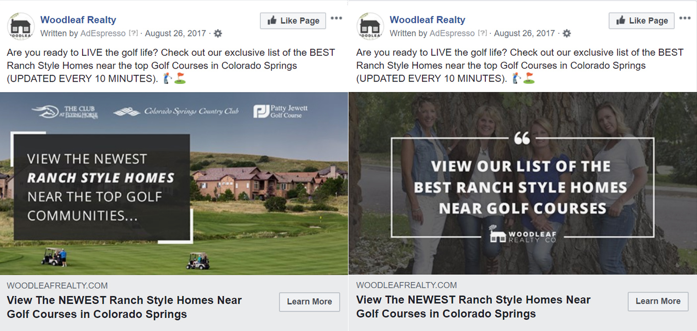 Woodleaf Facebook Ads