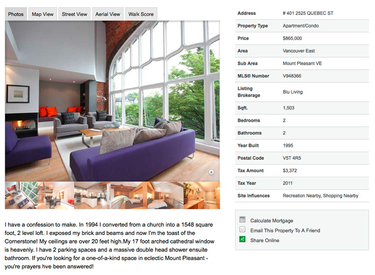Church turned into home listing