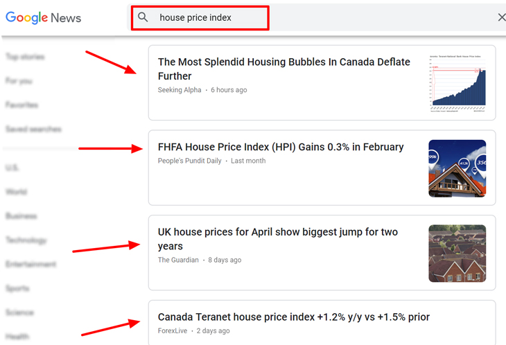 house price index Google News Search