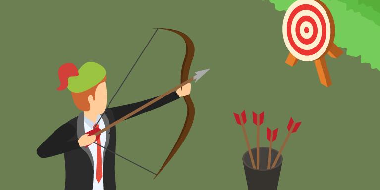 Archer hitting target