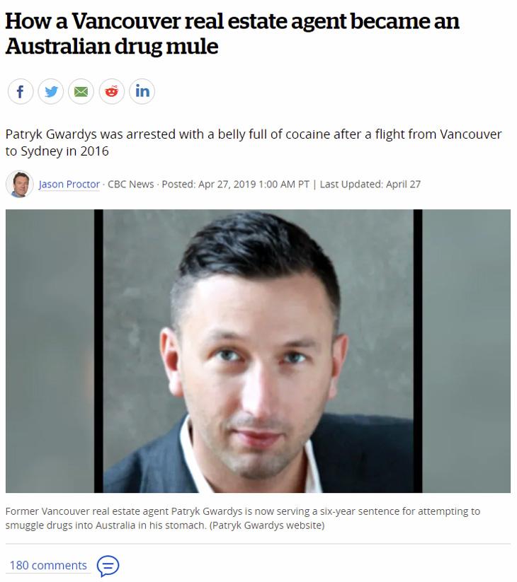 vancouver drug mule