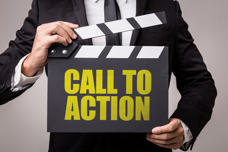 end with call to action