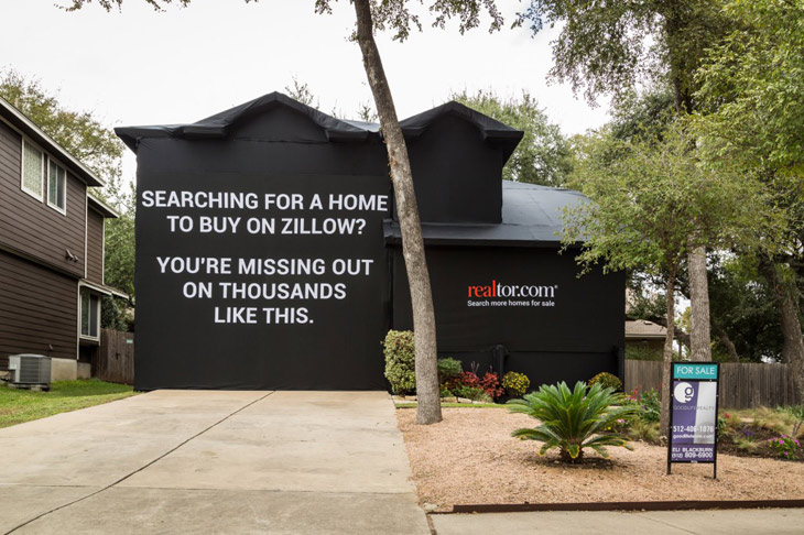 realtor ad covered home