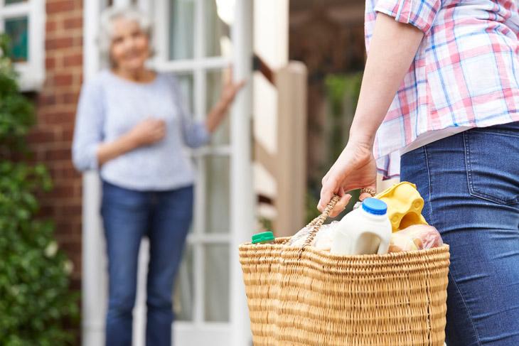 helping elderly client