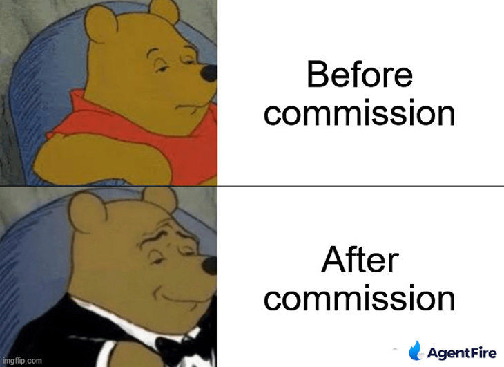 before and after commission