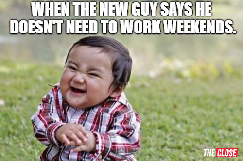 work weekends