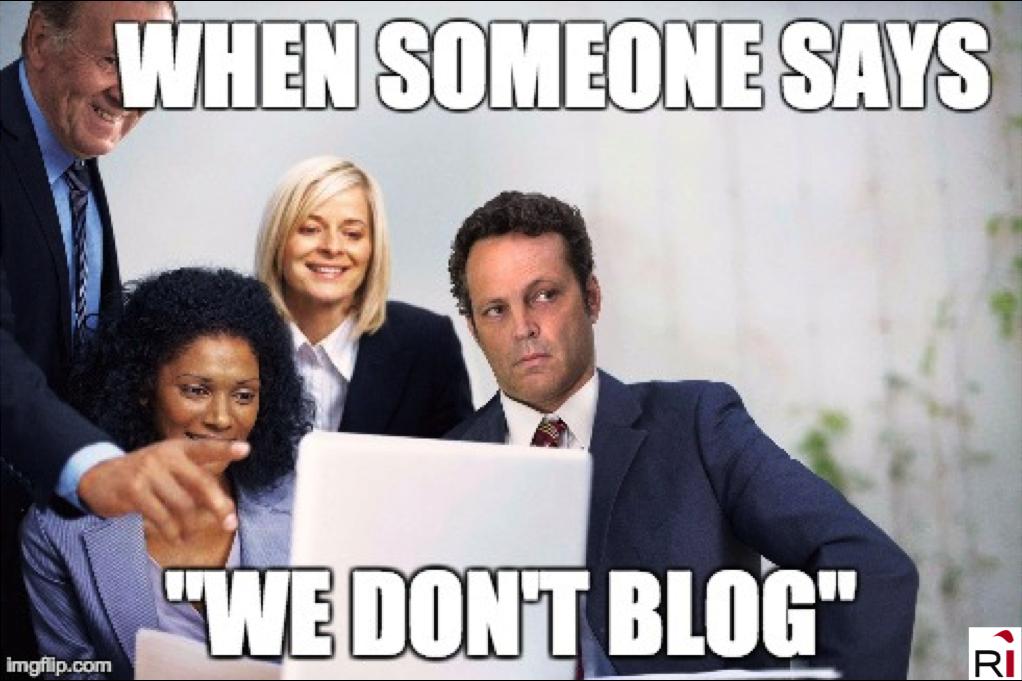 we don't blog