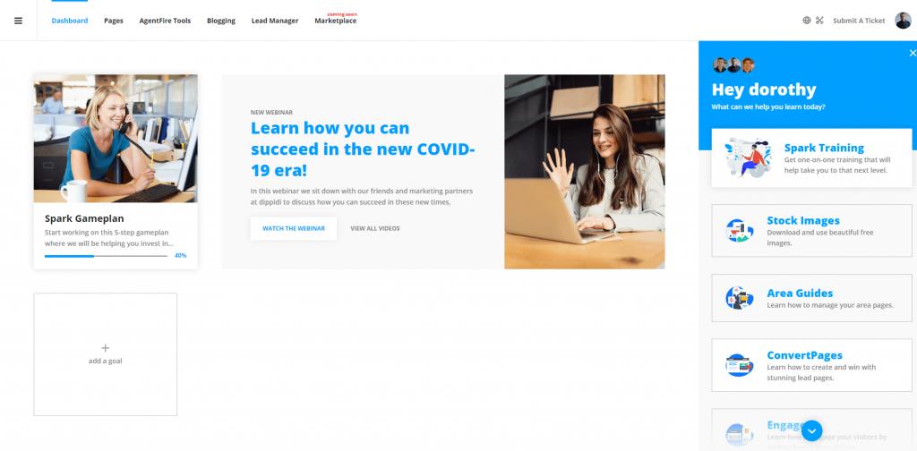 AgentFire Success Dashboard: Support Widget