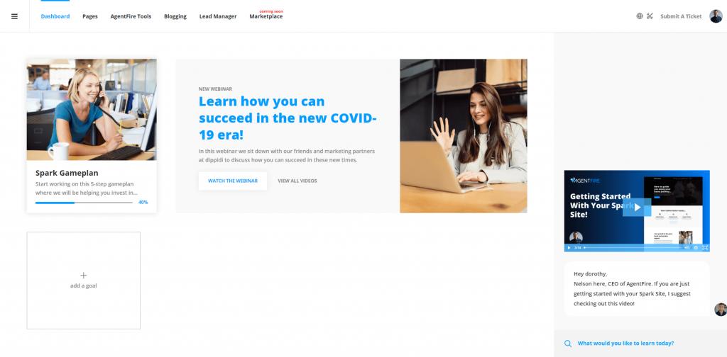 AgentFire Success Dashboard: Main View