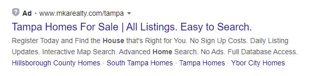tampa homes keywords