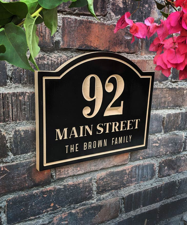personalized street number