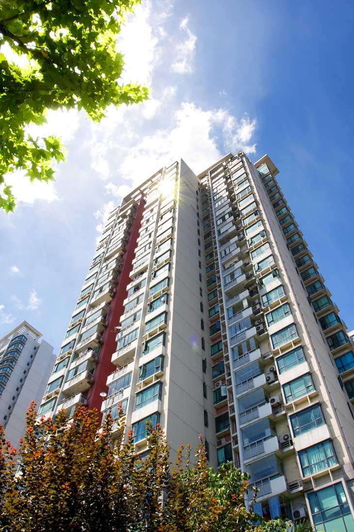 large apartment buildings
