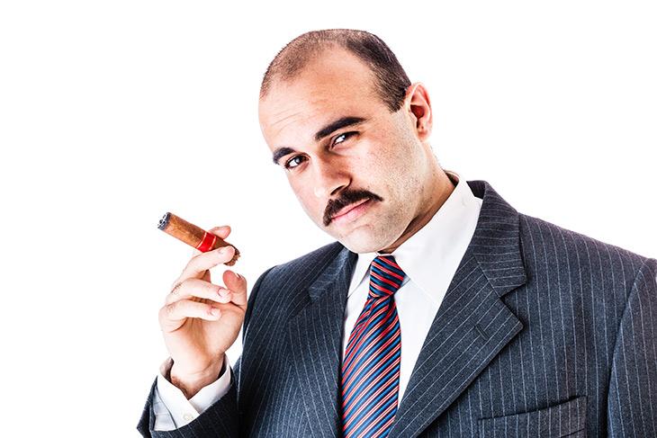shady businessman