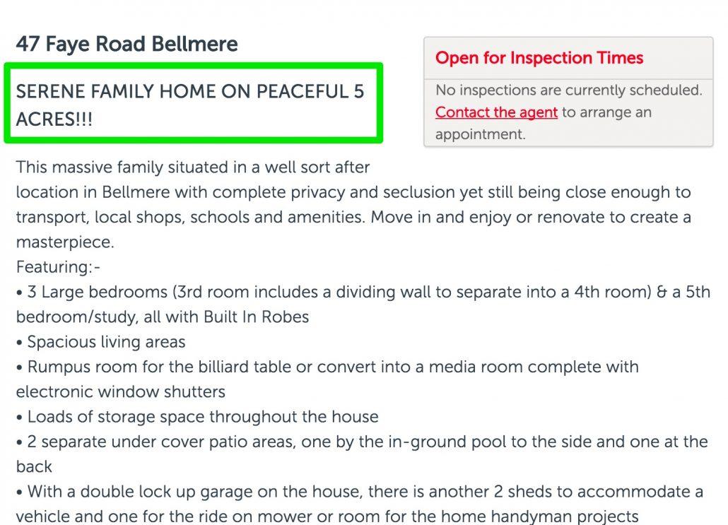 good property description