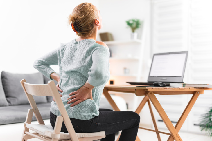 back pain working from home